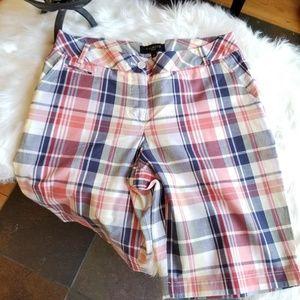 Talbots Petites Plaid Shorts